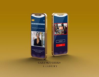 Application design for GAZA SKY UX/UI