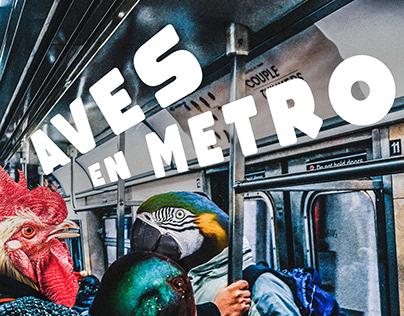 Serie de carteles - Animales en el Metro