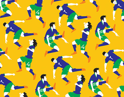 Seamless World Cup 2014 Team Patterns