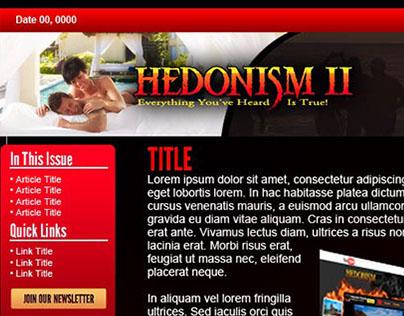 Hedonism 2 Newsletter Mock