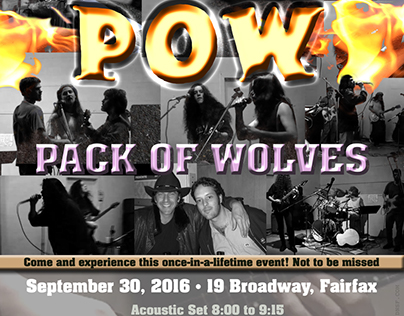 Pack of Wolves Rock Poster: 2016
