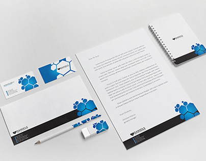 Blue Polygons Stationary Pack 04