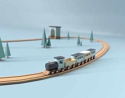 3D Toy train