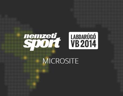 FIFA World Cup 2014 microsite for nemzetisport.hu