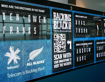 Telecom BackingBlack Digital Wall