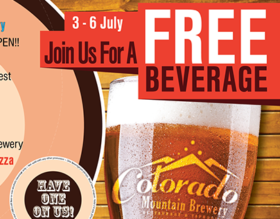 Colorado Mountain Brewery Promotional Flyer