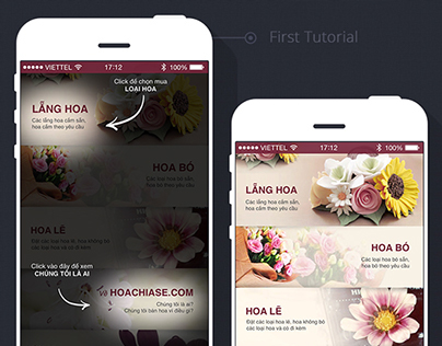 Hoa Chia Sẻ iOS Application