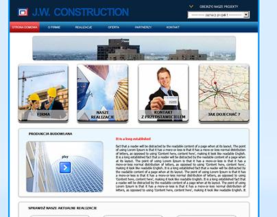 layout strony dla spółki JW Construction