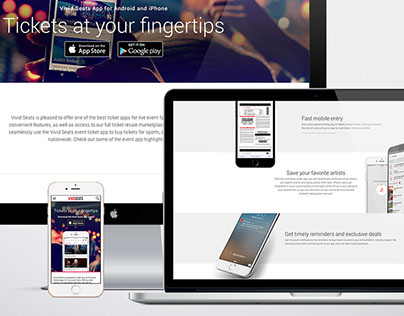 App promotional landing page