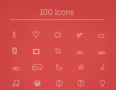 100 vector icons set - with download.