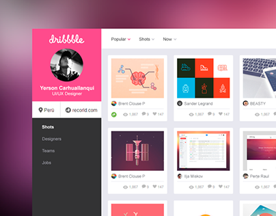 Dribbble UI Dashboard