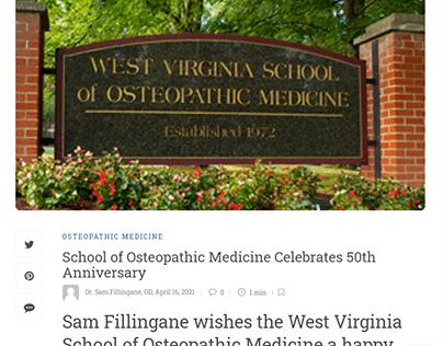 School of Osteopathic Medicine's 50th Anniversary
