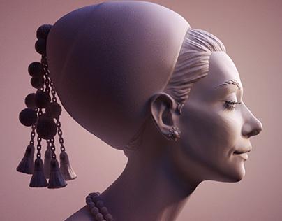 Woman Portrait Sculpt & Render