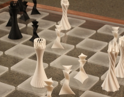 3D printed Parametric Chess Set