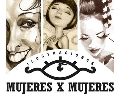 Mujeres x Mujeres : Graphic identity for art show