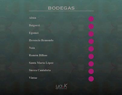 Interactive wine catalogue