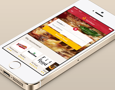 Mobile Food Ordering App concept