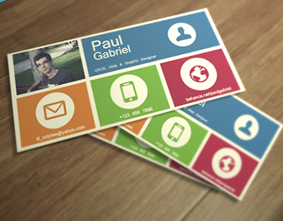 Metro style business card | REWORK