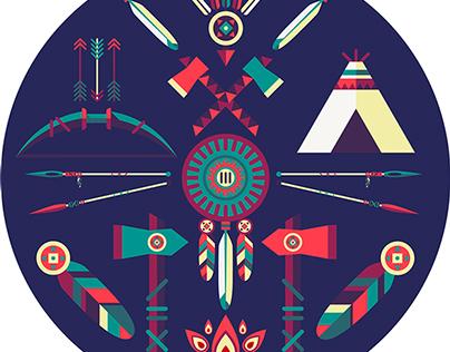 Clip Art of Native Americans.