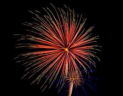 Firework Light painting