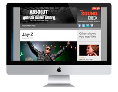 Madison Square Garden: HTML Newsletter