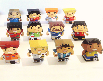 Papertoys World Cup Brazil 2014