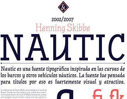 Espécimen Nautic - TP 2 Tipografia Cosgaya