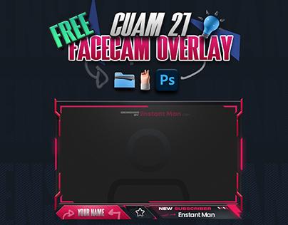 FREE! Cuam 21 Facecam Overlay | Multiple Colors