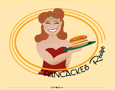 Infographics - Pancakes recipe