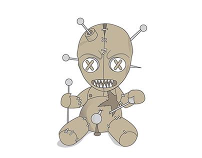 voodoo doll illustration