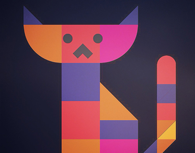 Geometric Animal Set -with a Drawing app-