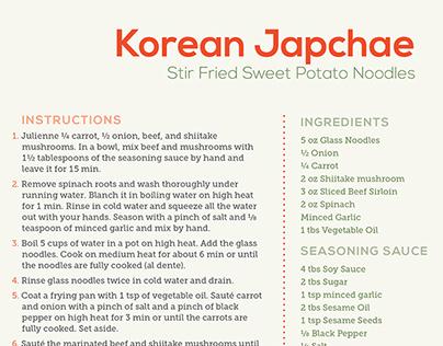 Japchae (Cookbook Design)