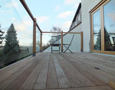 Timber & glass decking