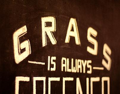 Grass is Greener Chalkwork