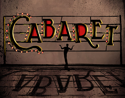 Production poster for Cabaret.