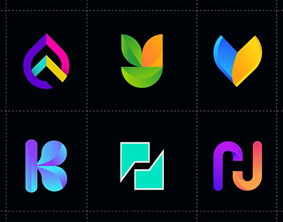 letter logo collection - logo folio - Modern logo
