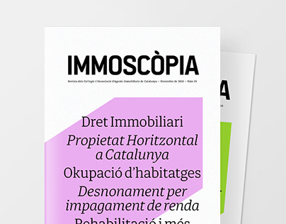 IMMOSCÒPIA magazine design