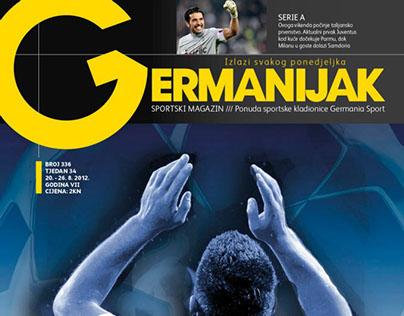 Sport betting magazine layout