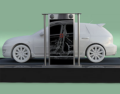 X-ray car-scanner machine for mazda.