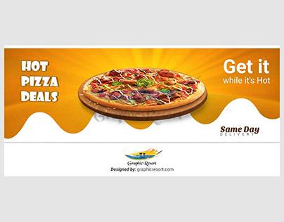 Free Pizza Web Slider PSD Template