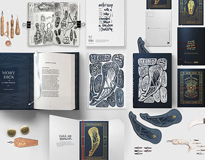 Anne-Marie Fenwick: Moby Dick Handmade Book Cover
