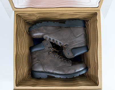 hiking boot shoe packaging