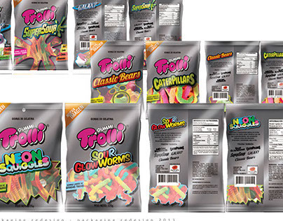 Trolli gummi candy redesign look and feel packaging
