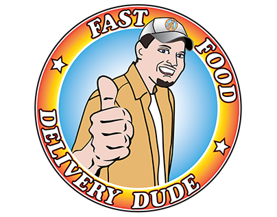 Fast Food Delivery Dude Logo