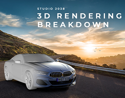 3D CGI Automotive Rendering Breakdown