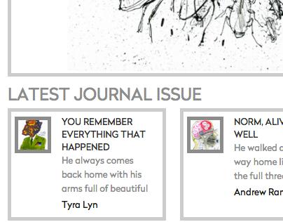 Literature for Life journal (Website & CMS)