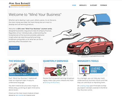 Mind Your Business // Microsite