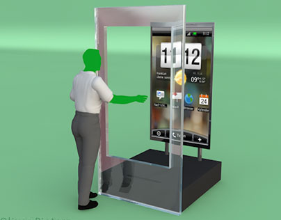 HTC - big touchless Interface for Cebit 2010