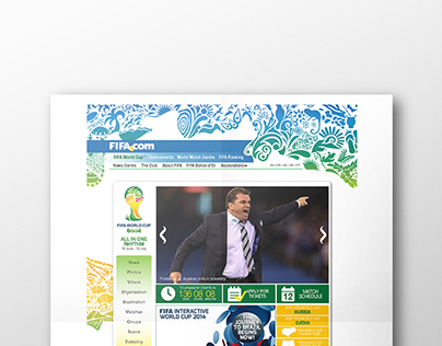 FIFA World Cup : Website Re-design