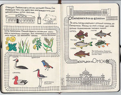 "sketchbook ""Moscow-Vladivostok"" part 1"